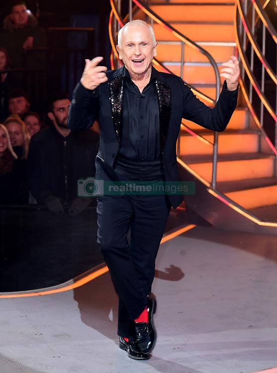 Wayne Sleep is evicted during the Celebrity Big Brother Final, held at Elstree Studios in Borehamwood, Hertfordshire.
