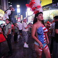 Times Square's topless women