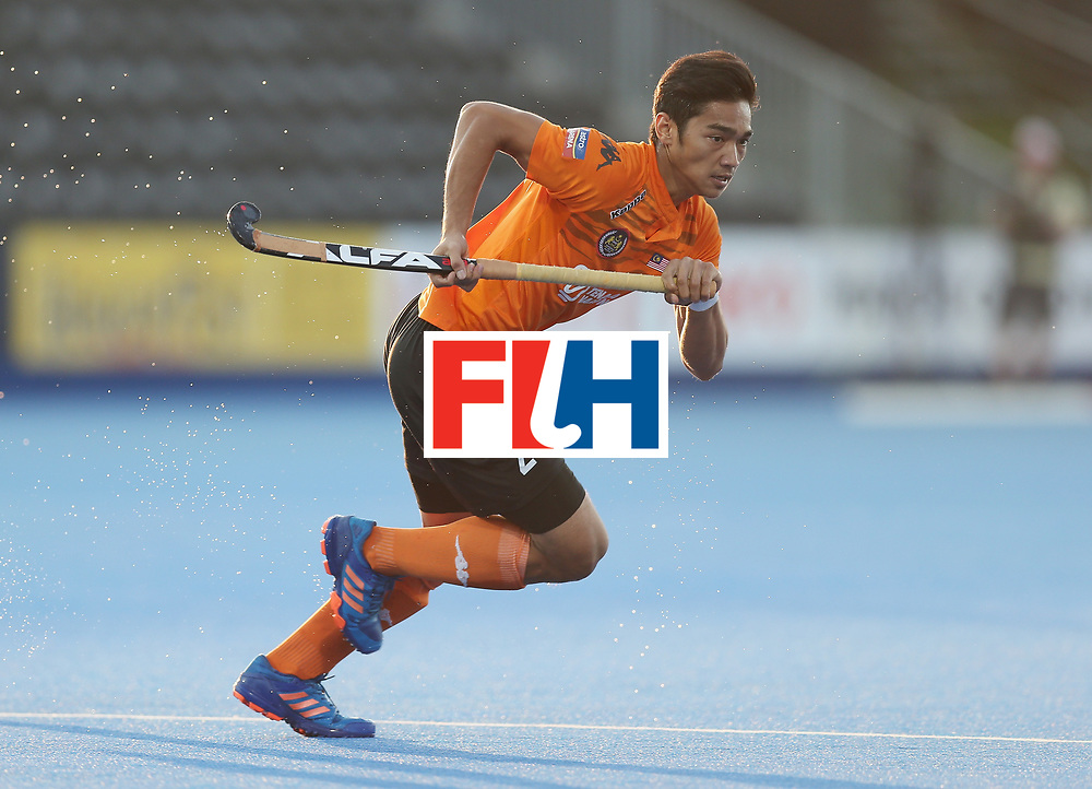 LONDON, ENGLAND - JUNE 16:  Sahril Saabah of Malaysia during the Hero Hockey World League semi final match between Argentina and Malaysia at Lee Valley Hockey and Tennis Centre on June 16, 2017 in London, England.  (Photo by Alex Morton/Getty Images)