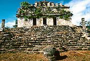 MEXICO, CHIAPAS, MAYAN Usumacinta; Yaxchilan, Temple 39
