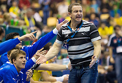 Vladan Matic, head coach of Celje during handball match between RK Celje Pivovarna Lasko (SLO) and MKB Veszprem KS (HUN) in 7th Round of Group B of EHF Champions League 2012/13 on December 1, 2012 in Arena Zlatorog, Celje, Slovenia. Veszprem defeated Celje PL 24-19. (Photo By Vid Ponikvar / Sportida)