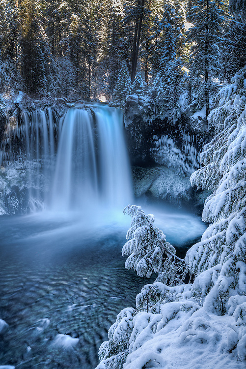 Koosah Falls shows it's winter wonder