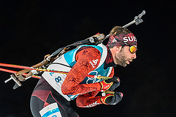 February 18, 2018 - Pyeongchang, Gangwon, South Korea - Serafin Wiestner of  Switzerland competing in  15 km mass start biathlon at Alpensia Biathlon Centre, Pyeongchang,  South Korea on February 18, 2018. (Credit Image: © Ulrik Pedersen/NurPhoto via ZUMA Press)