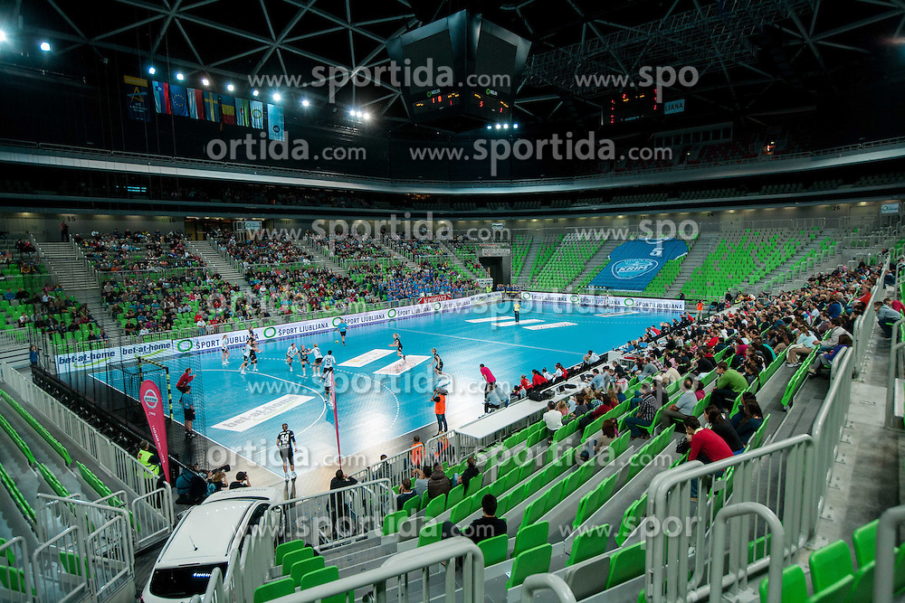Arena during handball match between RK Krim Mercator and U Jolidon Cluj in 1st Round of Group B of EHF Women's Champions League 2012/13 on October 14, 2012 in Arena Stozice, Ljubljana, Slovenia. (Photo By Vid Ponikvar / Sportida)