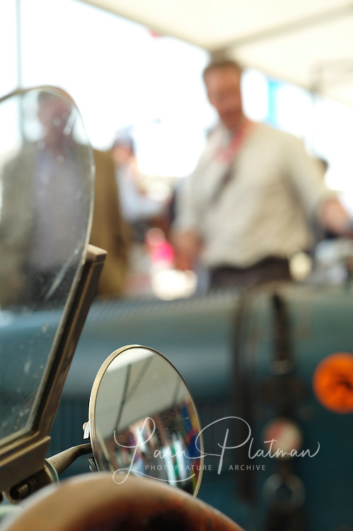 7th Grand Prix de Monaco Historique Bugatti Type 35 1925  Duncan Pittaway, putting the finishing touches to the aluminium car