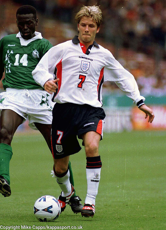 David Beckham England, England v Saudi Arabia International Wembley 1998