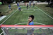 Inaugurazione di un parco giochi sport per bambini realizzato da Enel cuore e Laboratorio 0246<br /> Roma - 22 luglio 2013. Matteo Ciambelli / OneShot