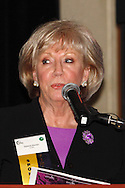 Jeanne Porter of Women in Business Networking accepts the award for business with 1 - 10 employees during the Better Business Bureau's Eclipse Integrity Awards dinner at Sinclair Community College's Ponitz Center in downtown Dayton, Tuesday, May 14 2013.