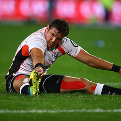 DURBAN, SOUTH AFRICA, 9,JULY, 2016 Franco Marais of the Cell C Sharks during The Cell C Sharks vs Toyota Cheetahs  Super Rugby Match at Growthpoint Kings Park in Durban, South Africa. (Photo by Steve Haag)<br /> <br /> images for social media must have consent from Steve Haag