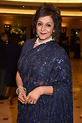 Meera Syal at The Asian Awards, The Hilton Park Lane, London England. 5 May 2017.<br /> Photo by Dominic O'Neill/SilverHub 0203 174 1069 sales@silverhubmedia.com