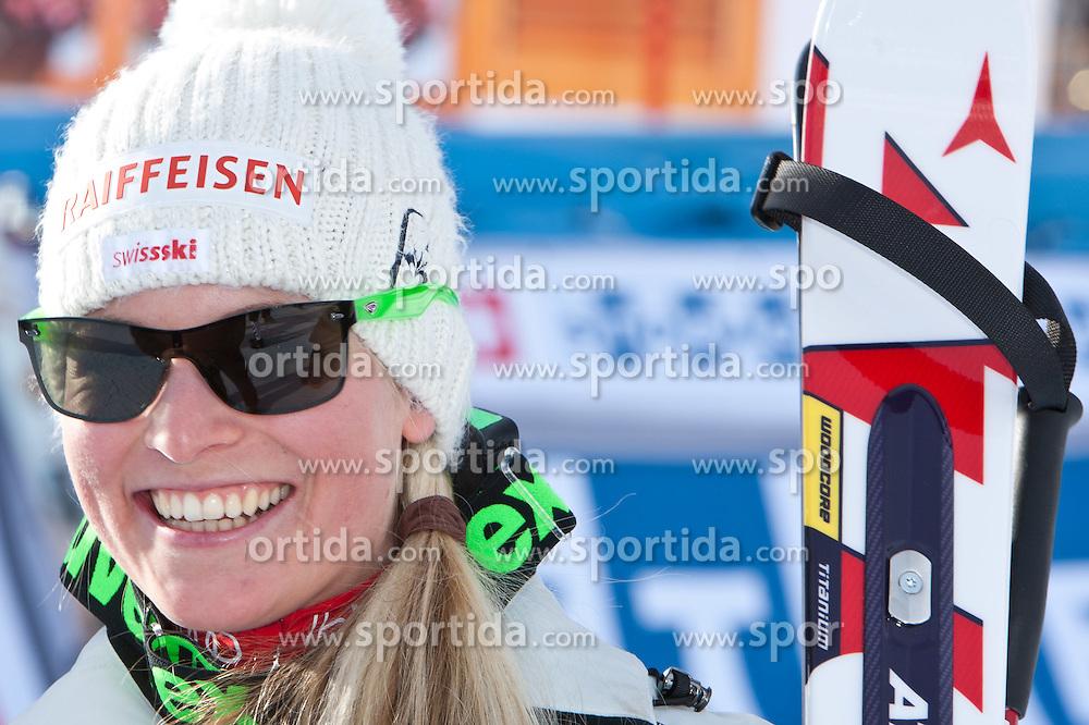 23.01.2011, Tofana, Cortina d Ampezzo, ITA, FIS World Cup Ski Alpin, Lady, Cortina, SuperG, im Bild Lara Gut (SUI, #8, Platz 3) // Lara Gut (SUI, place 3) during FIS Ski Worldcup ladies SuperG at pista Tofana in Cortina d Ampezzo, Italy on 23/1/2011. EXPA Pictures © 2011, PhotoCredit: EXPA/ J. Groder