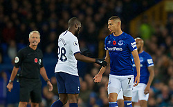 LIVERPOOL, ENGLAND - Sunday, November 3, 2019: Tottenham Hotspur's Tanguy Ndombele (L) and Everton's Richarlison de Andrade during the FA Premier League match between Everton FC and Tottenham Hotspur FC at Goodison Park. (Pic by David Rawcliffe/Propaganda)