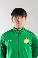 Portrait of Chinese soccer player Zhang Xizhe of Beijing Sinobo Guoan F.C. for the 2017 Chinese Football Association Super League, in Benahavis, Marbella, Spain, 18 February 2017.