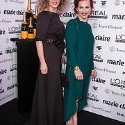 NLD/Amsterdam/20150119 - De Marie Claire Prix de la Mode awards, Claudia Straatmans en Simone Dernee