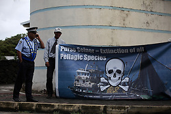 MAURITIUS 6MAY13 - Artisanal fishermen stage a protest at the IOTC (Indian Ocean Tuna Commission) meeting in Grand Baie, Mauritius.<br /> <br /> <br /> <br /> The Greenpeace ship Esperanza is on patrol in the Indian Ocean documenting fishing activties.<br /> <br /> <br /> <br /> jre/Photo by Jiri Rezac / Greenpeace