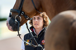 Wendy Laeremans, (BEL) - Horse Inspection Para Dressage - Alltech FEI World Equestrian Games™ 2014 - Normandy, France.<br /> © Hippo Foto Team - Jon Stroud<br /> 25/06/14