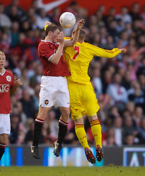 Manchester, England - Thursday, April 26, 2007: Liverpool's Jimmy Ryan and Manchester United's Corry Evans during the FA Youth Cup Final 2nd Leg at Old Trafford. (Pic by David Rawcliffe/Propaganda)
