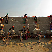 Workers at Brick Field, Dhaka