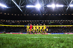 November 20, 2018 - Stockholm, Sweden - Players of Sweden during the UEFA Nations League B group two match between Sweden and Russia at Friends Arena on November 20, 2018 in Stockholm, Sweden. (Credit Image: © Igor Russak/NurPhoto via ZUMA Press)