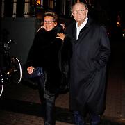 NLD/Amsterdam/20120217 - Premiere Saturday Night Fever, Joop van den Ende en partner Janine Klijburg