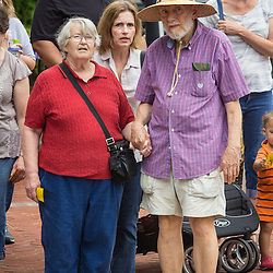 Pedestrians at  the Farmer's Market Saturday June 21, 2014. (Christina Paolucci, photographer).