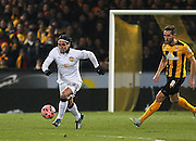 Manchester United's Radamel Falcao on the ball during the The FA Cup match between Cambridge United and Manchester United at the R Costings Abbey Stadium, Cambridge, England on 23 January 2015. Photo by Phil Duncan.