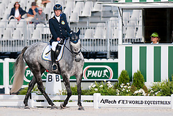 Anita Johnsson riding Nefertiti in the Grade 1a Para-Dressage at the 2014 World Equestrian Games, Caen, Normandy, France..