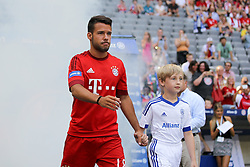 11.07.2015, Alianz Arena, Muenchen, GER, 1. FBL, FC Bayern Muenchen, Teampräsentation, im Bild Juan Bernat #18 (FC Bayern Muenchen) kommt in die Arena // during the Teampresentation of German Bundesliga Club FC Bayern Munich at the Alianz Arena in Muenchen, Germany on 2015/07/11. EXPA Pictures © 2015, PhotoCredit: EXPA/ Eibner-Pressefoto/ Kolbert<br /> <br /> *****ATTENTION - OUT of GER*****