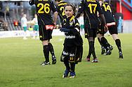 01.05.2010, Tapiolan Urheilupuisto, Espoo..Veikkausliiga 2010, FC Honka - IFK Mariehamn..FC Hongan maskotti Maximo Tolonen.