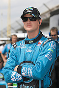 Indy Car driver Ryan Hunter-Reay seen in the pits during qualifications for the Indy 500. Photo by Michael Hickey