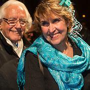 NLD/Amsterdam/20140307 - Boekenbal 2014, Yvonne Keuls en partner ......