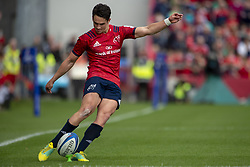 October 20, 2018 - Limerick, Ireland - Joey Carbery of Munster kicks a conversion during the Heineken Champions Cup match between Munster Rugby and Gloucester Rugby at Thomond Park in Limerick, Ireland on October 20, 2018  (Credit Image: © Andrew Surma/NurPhoto via ZUMA Press)