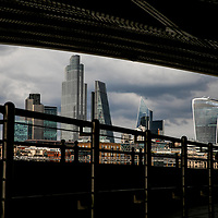 View of City of London from Blackfriars;<br />
