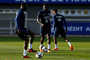 Samuel Umtiti during the training of the team of France before the FIFA World Cup qualifying football match between Bulgaria and France, on October 2, 2017 in Clairfontaine, France - Photo Benjamin Cremel / ProSportsImages / DPPI