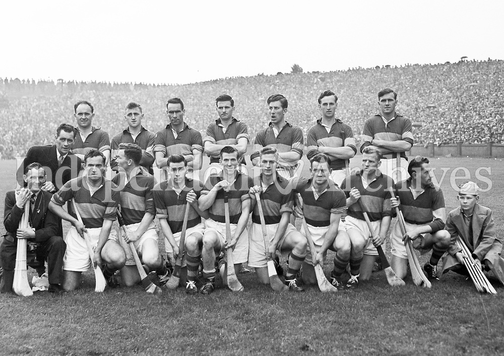 Tipperary v Kilkenny in All Ireland Semi Final. Tipperary Team. 1958 (Part of the Independent Ireland Newspapers/NLI Collection)