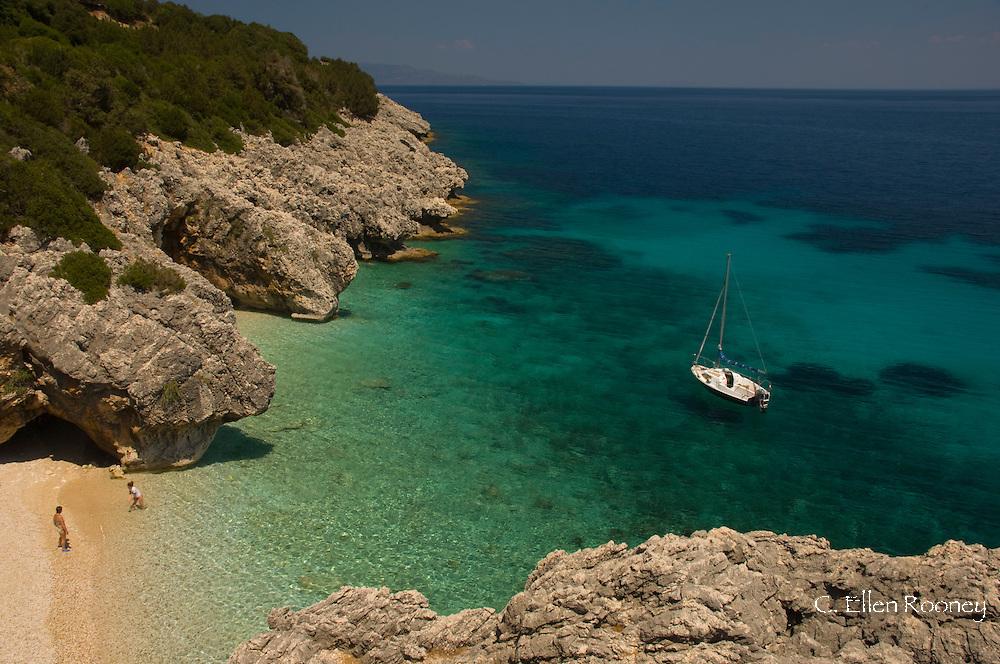 Kako Lagadi Beach;  Kefalonia, The Ionian Islands, Greece