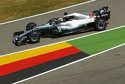 July 20, 2018 - Hockenheim, Germany - #44 Lewis Hamilton (GBR, Mercedes AMG Petronas Motorsport) practice at FIA Formula One World Championship 2018, Grand Prix of Germany. (Credit Image: © Hoch Zwei via ZUMA Wire)