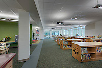 Architectural Interior Image of Bel Pre Elementary Schol in Silver Spring Maryland by Jeffrey Sauers of Commercial Photographics, Architectural Photo Artistry in Washington DC, Virginia to Florida and PA to New England