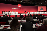 14 NOV 2013, LEIPZIG/GERMANY:<br /> Sigmar Gabriel, SPD Parteivorsitzender, haelt eine Rede, SPD Bundesparteitag, Leipziger Messe<br /> IMAGE: 20131114-01-124<br /> KEYWORDS: Party Congress, Parteitag, Übersicht, Uebersicht, Buehne, Bühne