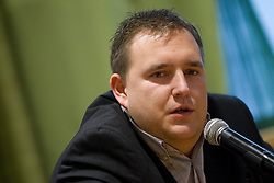 Matej Avanzo, director of National Team at press conference of new head coach of Slovenian national basketball team, on December 21, 2010 in Hotel Turist, Ljubljana, Slovenia. (Photo By Vid Ponikvar / Sportida.com)