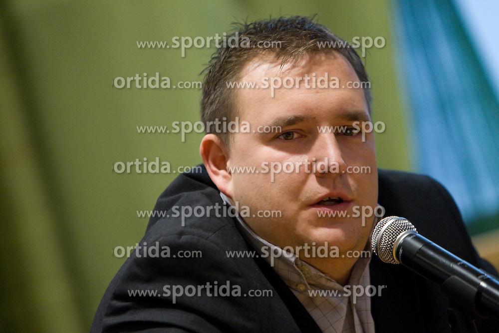 Matej Avanzo, director of National Team at press conference of new head coach of Slovenian national basketball team, on December 21, 2010 in Hotel Turist, Ljubljana, Slovenia. (Photo By Vid Ponikvar / Sportida.com)
