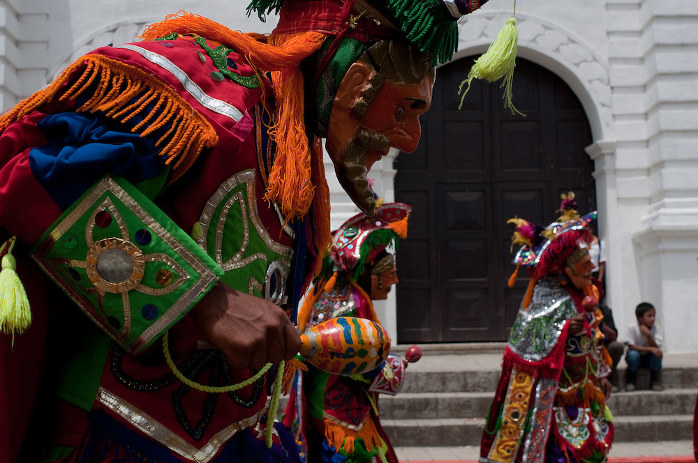 "Guatemalans, in Cobán, celebrate their Mayan heritage and remember the effects of colonialism, during ""La Fiesta Nacional Indígena de Guatemala"", also known as Festival Folklórico, celebrated annually during July."