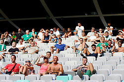 Fans during football match between NK Olimpija and NK Krka in Round 1 of Prva liga Telekom Slovenije 2014/15, on July 19, 2014 in SRC Stozice, Ljubljana, Slovenia. Photo by Vid Ponikvar / Sportida.com