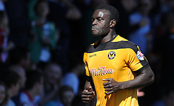 Newport County's Ismail Yakubu is shown a red card by Match Referee Gavin Ward - Photo mandatory by-line: Harry Trump/JMP - Mobile: 07966 386802 - 06/04/15 - SPORT - FOOTBALL - Sky Bet League Two - Exeter City v Newport County - St James Park, Exeter, England.