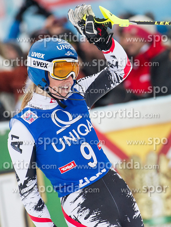 29.12.2013, Hochstein, Lienz, AUT, FIS Weltcup Ski Alpin, Lienz, Slalom, Damen, 2. Durchgang, im Bild Gewinnerin Marlies Schild (AUT) // Winner Marlies Schild from Austria during the 2nd run of ladies slalom Lienz FIS Ski Alpine World Cup at Hochstein in Lienz, Austria on 2013/12/29, EXPA Pictures © 2013 PhotoCredit: EXPA/ Michael Gruber