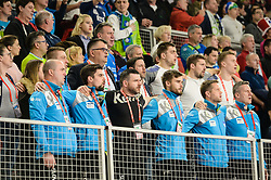 Players of Slovenia during handball match between National teams of Slovenia and Spain on Day 6 in Main Round of Men's EHF EURO 2018, on January 23, 2018 in Arena Varazdin, Varazdin, Croatia. Photo by Mario Horvat / Sportida