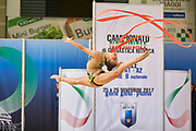 Katrin Taseva from Gymnica 96 team during the Italian Rhythmic Gymnastics Championship in Padova, 25 November 2017.