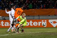 WAALWIJK - Jong Oranje - Jong Noorwegen, oefeninterland, Mandemakers stadion, 25-03-2013, voetbal, seizoen 2012-2013. (L-R) Jong oranje speler Georginio Wijnaldum scoort, Jong Noorwegen keeper Arild Ostbo is kansloos.