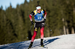 Tarjei Boe (NOR) in action during the Men 10km Sprint at day 6 of IBU Biathlon World Cup 2018/19 Pokljuka, on December 7, 2018 in Rudno polje, Pokljuka, Pokljuka, Slovenia. Photo by Vid Ponikvar / Sportida
