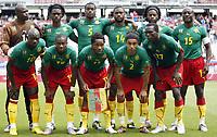 Fotball<br /> Kamerun v Slovakia<br /> 29.05.2010<br /> Klagenfurt Østerrike<br /> Foto: Gepa/Digitalsport<br /> NORWAY ONLY<br /> <br /> FIFA Weltmeisterschaft 2010 in Suedafrika, Vorberichte, Soccer Camps Kaernten, Vorbereitung, Vorbereitungsspiel, Freundschaftsspiel, Laenderspiel, Kamerun vs Slowakei. <br /> <br /> Bild zeigt die Mannschaft von CMR mit Achille Emana, Enoh Eyong, Jean Makoun, Benoit Assou Ekotto, Joel Matip (vorne von links); Hamidou Souleymanou, Fotso Njitap, Sebastien Bassong, Aurelien Chedjou, Nicolas Nikoulou und Achille Webo (CMR).<br /> Lagbilde Kamerun